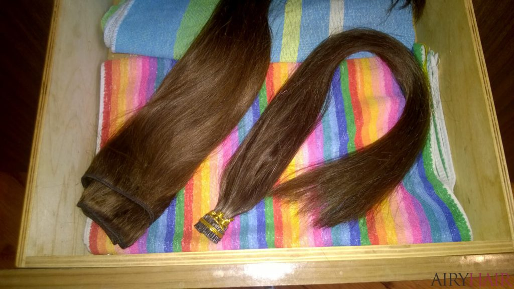Storing Weft, Clip In Extensions In Drawer