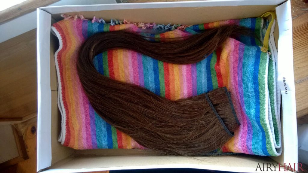 Storing Weft Hair Tresses In A Shoe Box