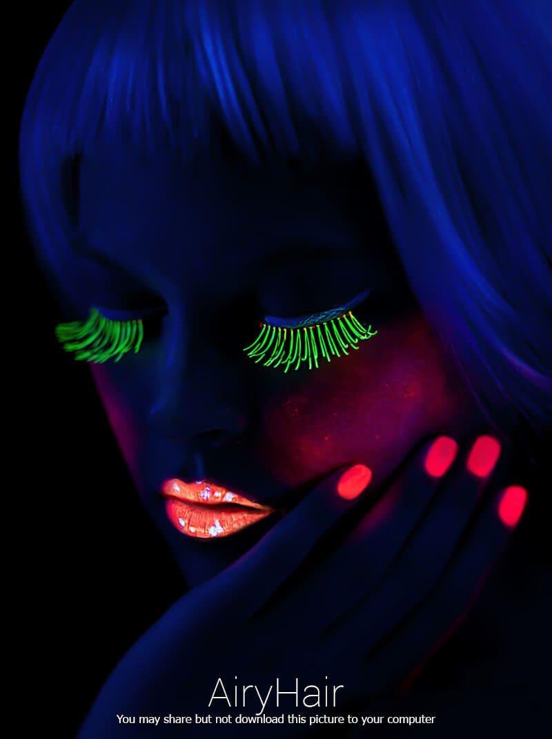 Astonishing Woman Neon Make Up