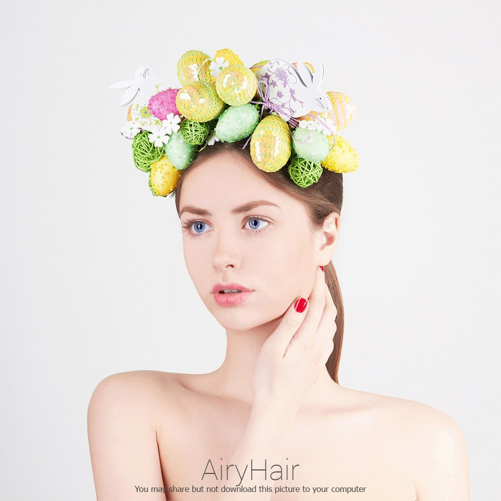 Easter Hairstyle with Eggs