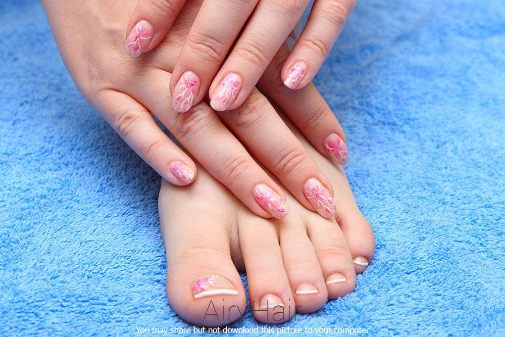 Pedicure And Manicure Nail Art Match Latest Hair Styles