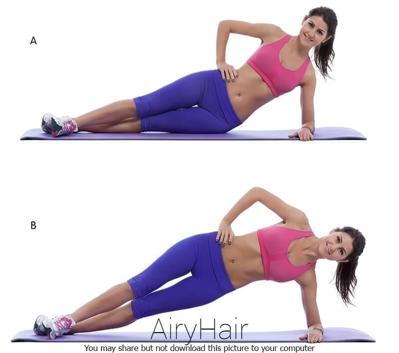 Crunches für seitliche Bauchmuskeln