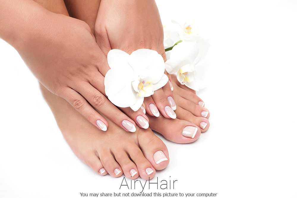 French Pedicure and Manicure Match