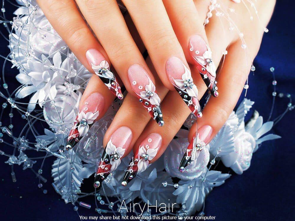 Futuristic nail manicure art