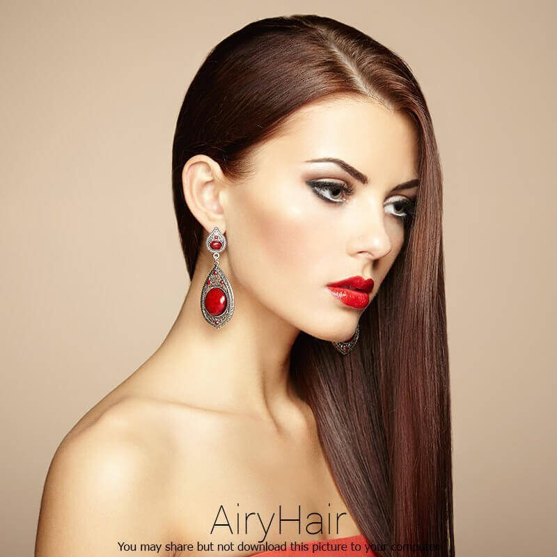 Elegant hairstyle and make up