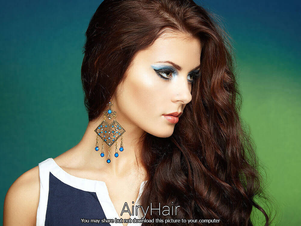 Manly female hairstyle and make up