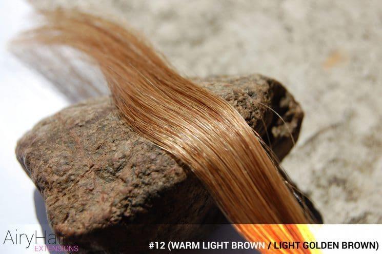 #12 (Warm Light Brown / Light Reddish Brown / Light Golden Brown) Hair Color