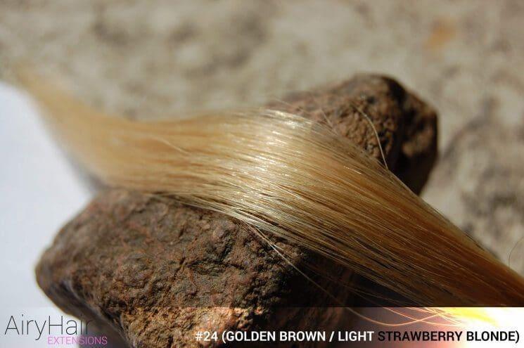 #24 (Golden Brown / Light Strawberry Blonde) Hair Color
