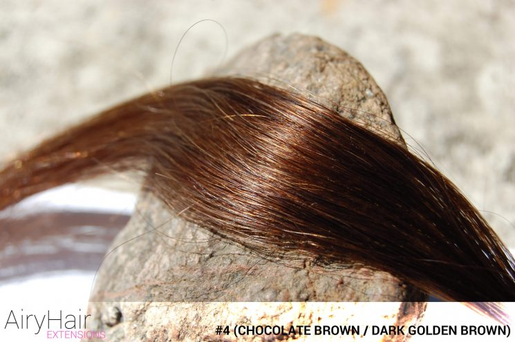 #4 Chocolate Brown / Golden Brown Hair Color
