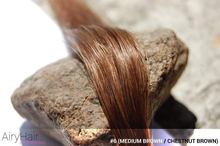 #6 (Medium Brown / Chestnut Brown) Hair Color