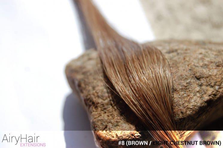 #8 (Brown / Light Chestnut Brown) Hair Color