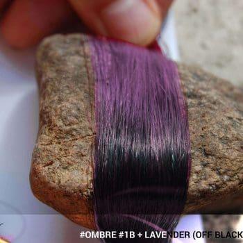 #Ombré #1B / #Lavender (Off Black + Lavender)