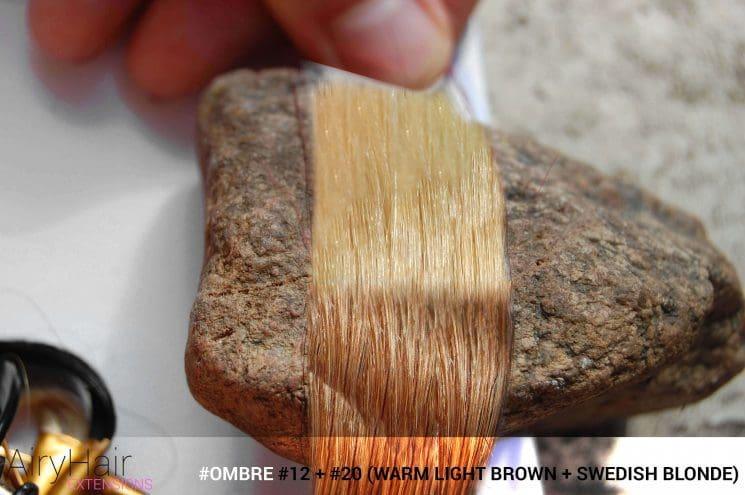 #Ombré #12 / #20 (Warm Light Brown + Swedish Blonde)