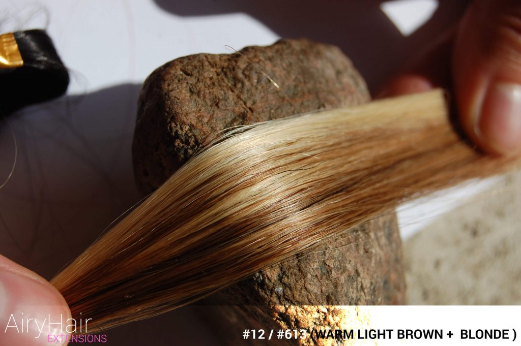 #12 / #613 (Warm Light Brown + Blonde) Ombre Hair Colors