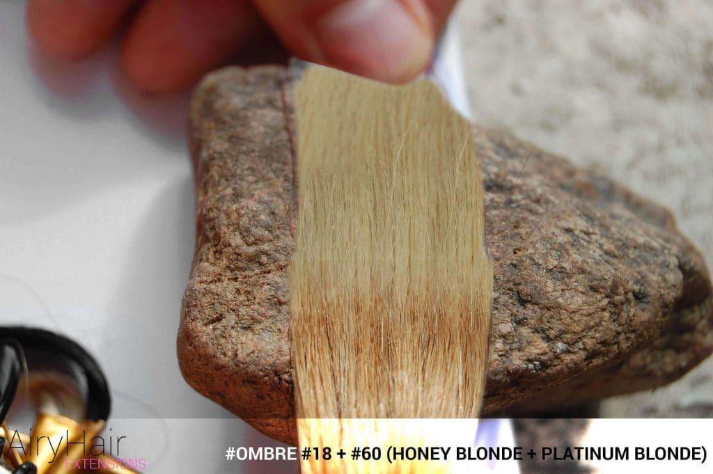 #Ombré #18 / #60 (Honey Blonde + Platinum Blonde)