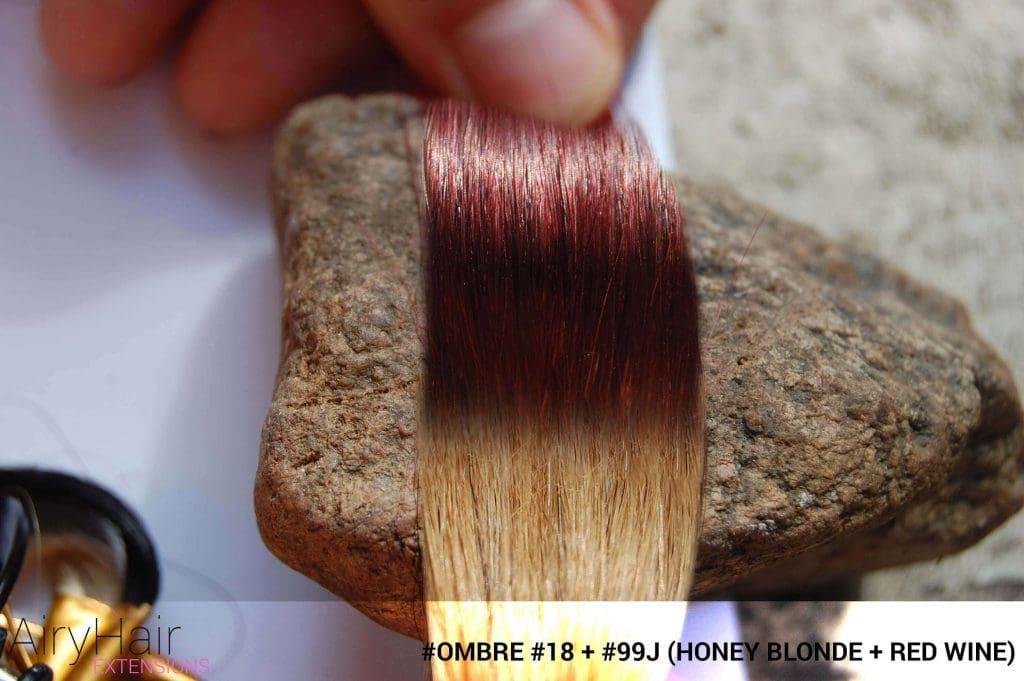 #Ombré #18 / #99j (Honey Blonde + Red Wine)