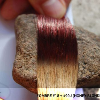 #Ombré #18 / #99j (Honey Blonde + Red Wine)