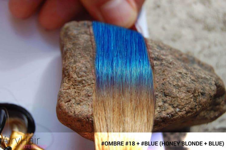 #Ombré #60 / #Blue (Platinum Blonde + Blue)