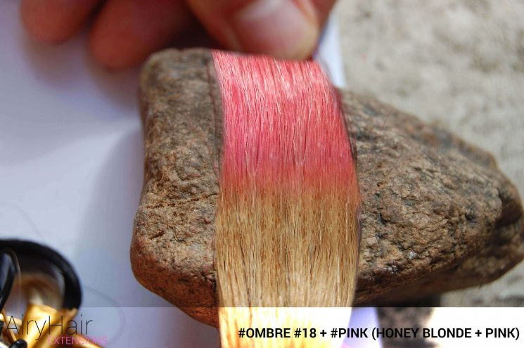 #Ombré #18 / #Pink (Honey Blonde + Pink)