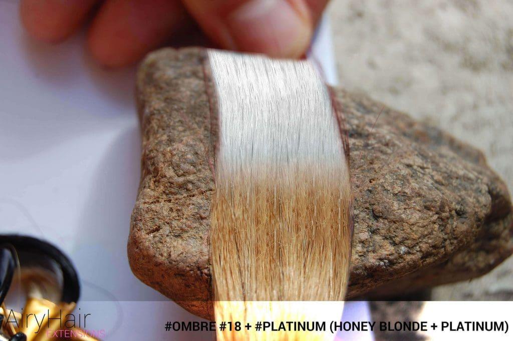 #Ombré #18 / #Platinum (Honey Blonde + Platinum)