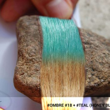 #Ombré #18 / #Teal (Honey Blonde + Teal)