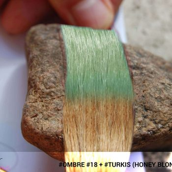 #Ombré #18 / #Turkis (Honey Blonde + Turkis)