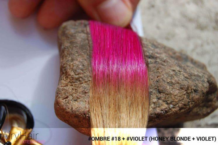 #Ombré #18 / #Violet (Honey Blonde + Violet)