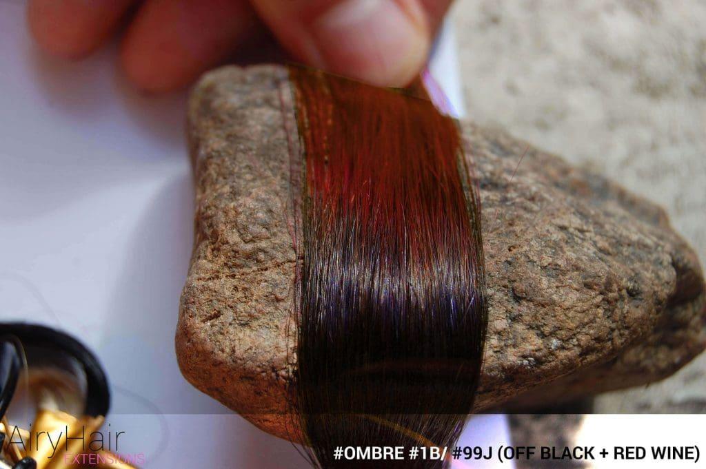 #Ombré #1B / #99J (Off Black + Red Wine)