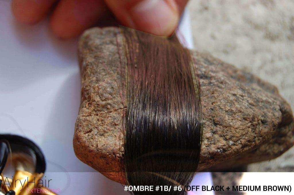 #Ombré #1B / #6 (Off Black + Medium Brown)
