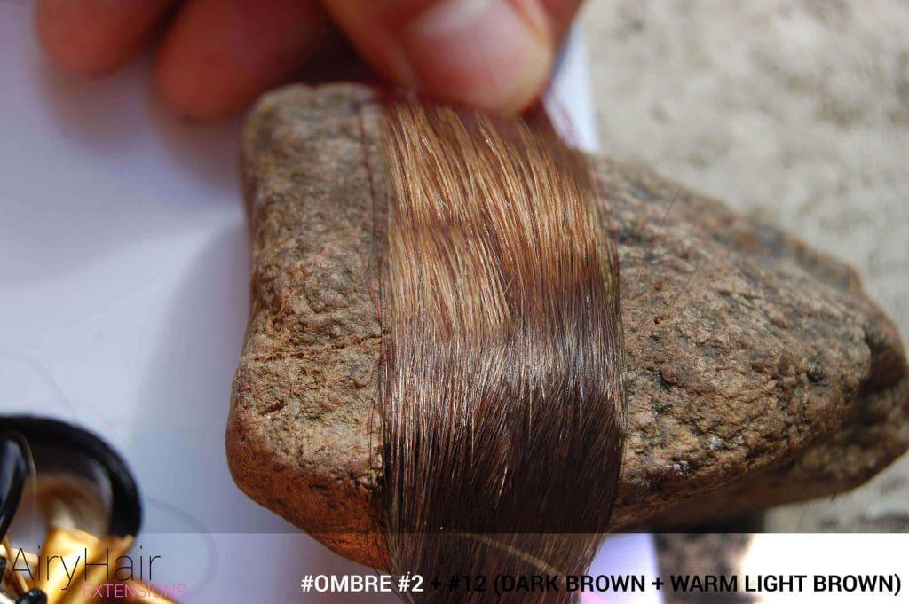 #Ombré #2 / #12 (Dark Brown + Warm Light Brown)