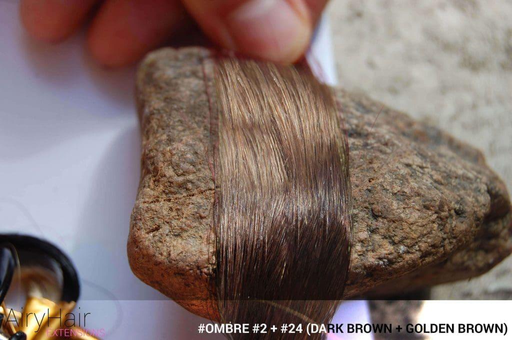 #Ombré #2 / #24 (Dark Brown + Golden Brown)