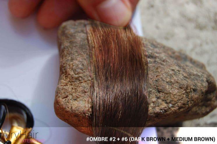 >#Ombré #2 / #6 (Dark Brown + Medium Brown)