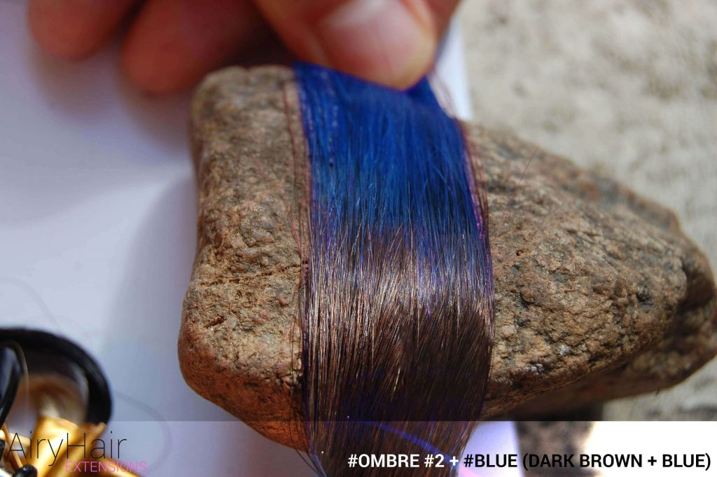 #Ombré #2 / #Blue (Dark Brown + Blue)