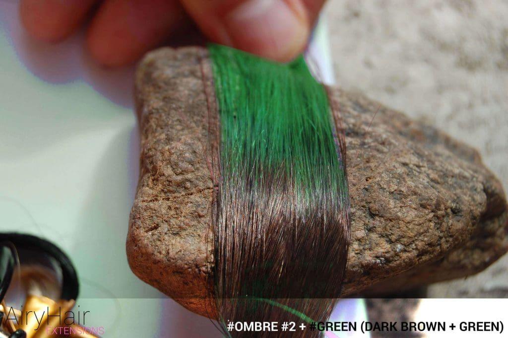 #Ombré #2 / #Green (Dark Brown + Green)