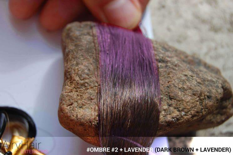 #Ombré #2 / #Lavender (Dark Brown + Lavender)