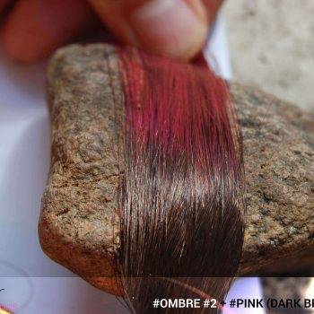 #Ombré #2 / #Pink (Dark Brown + Pink)