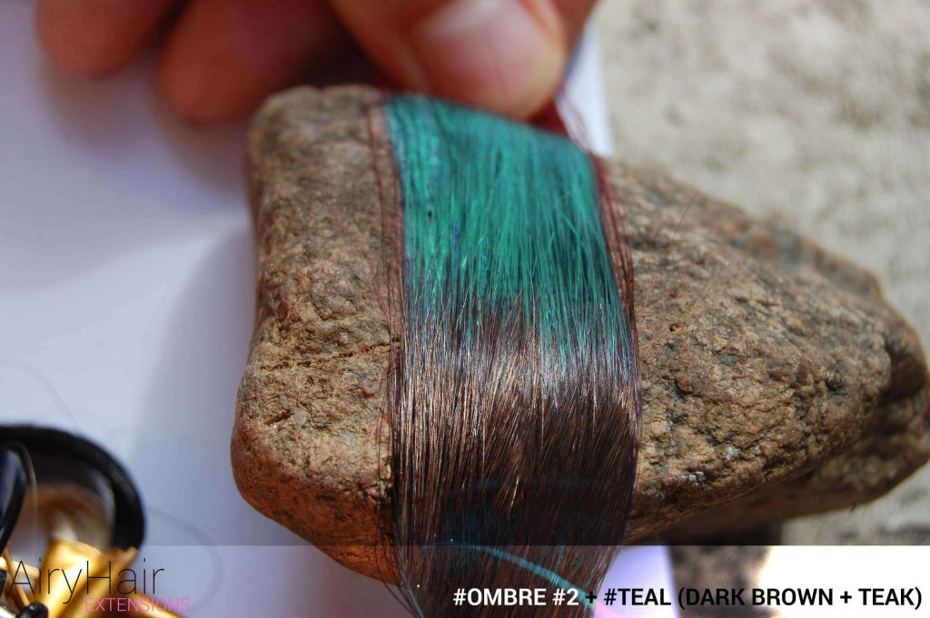 #Ombré #2 / #Teal (Dark Brown + Teal)