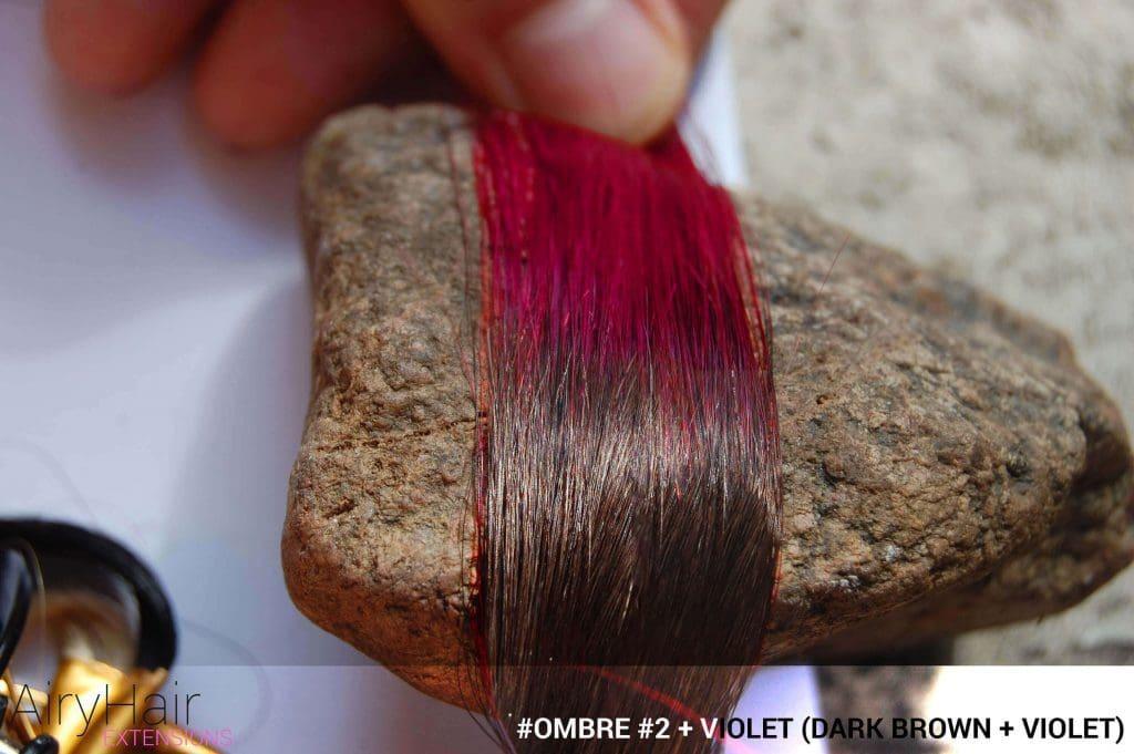 #Ombré #2 / #Violet (Dark Brown + Violet)
