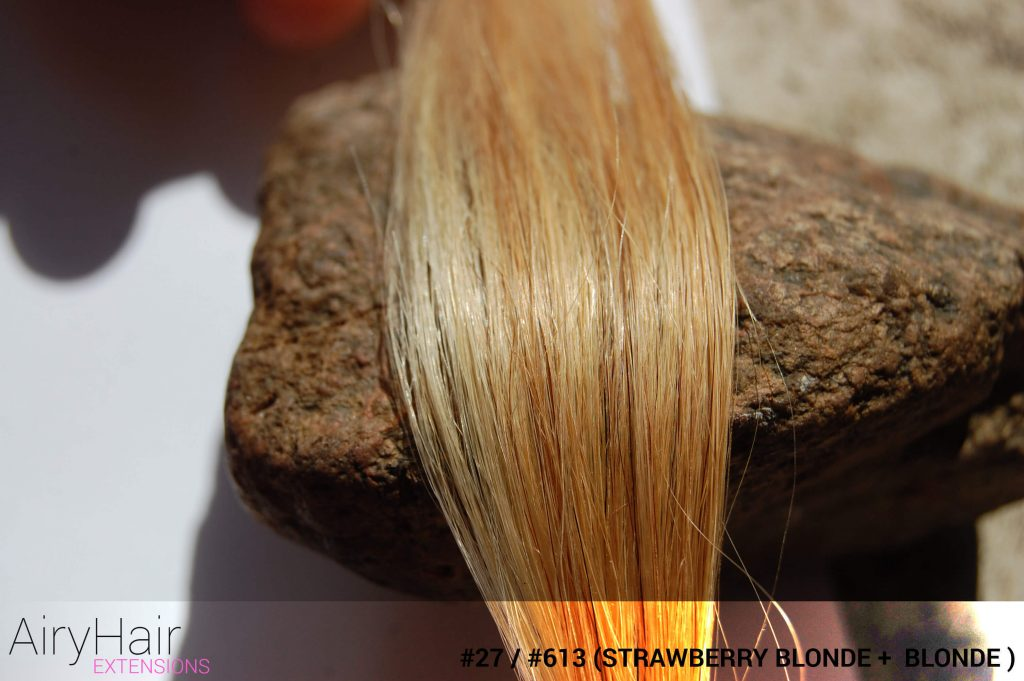 #27 / #613 (Strawberry Blonde + Blonde) Ombre Hair Colors