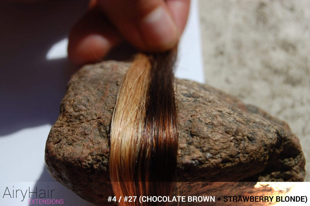 #4 / #27 (Chocolate Brown + Strawberry Blonde) Ombre Hair Colors