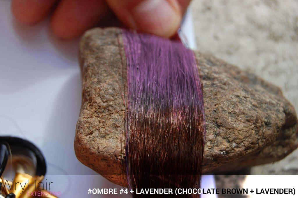 #Ombré #4 / #Lavender (Chocolate Brown + Lavender)