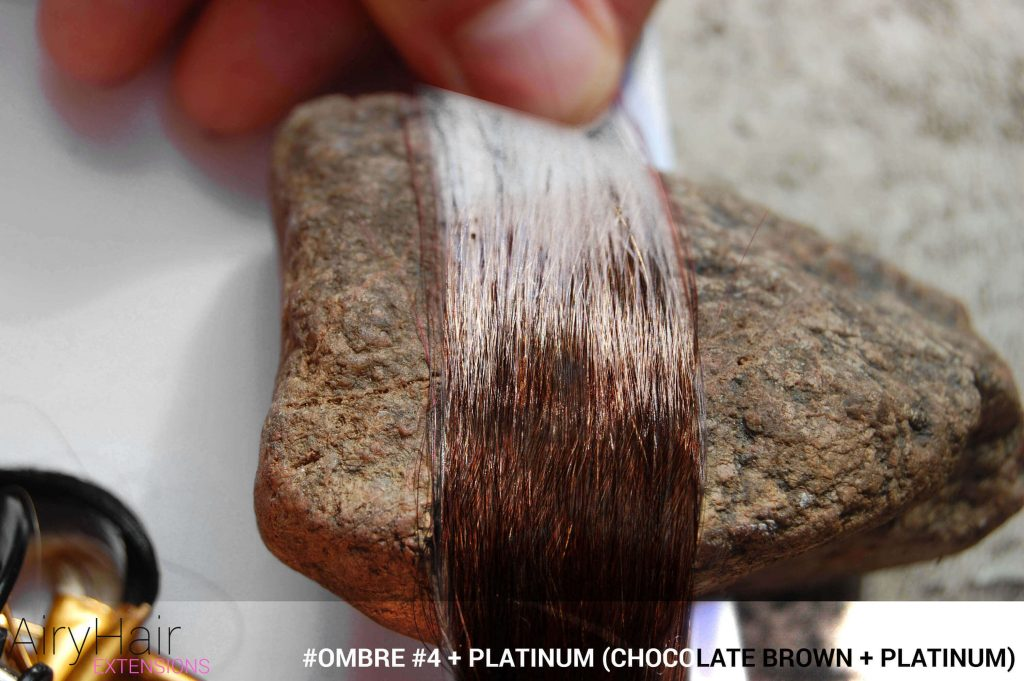 #Ombré #4 / #Platinum (Chocolate Brown + Platinum)