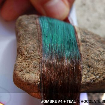 #Ombré #4 / #Teal (Chocolate Brown + Teal)