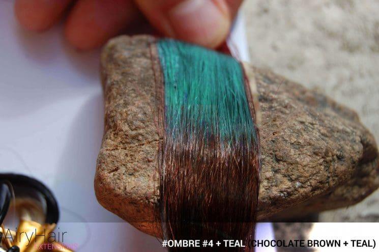 #Ombré #4 / #Teal (Chocolate Brown + Teal)