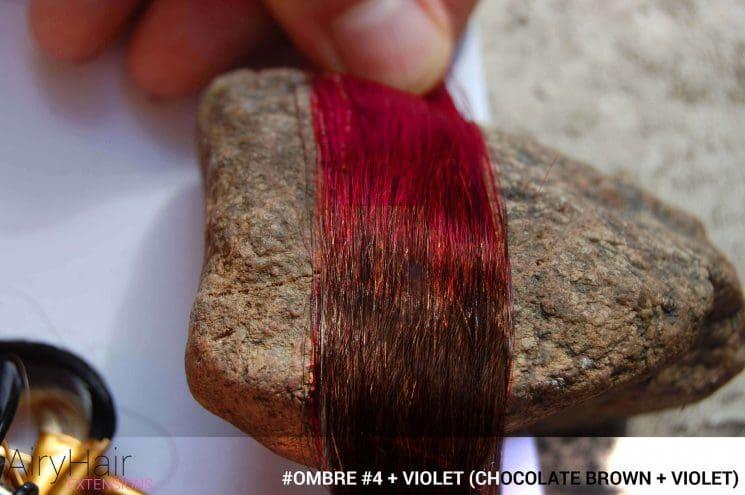 #Ombré #4 / #Violet (Chocolate Brown + Violet)