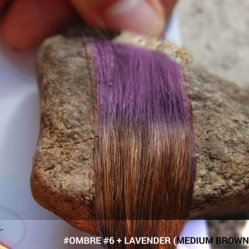 #Ombré #6 / #Lavender (Medium Brown + Lavender)