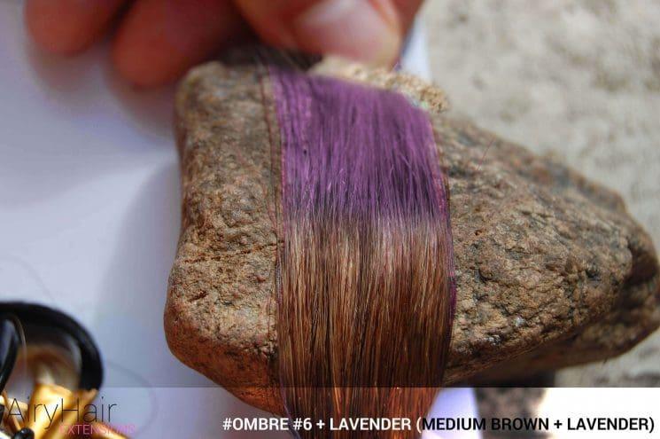 #Ombré #6 / #Lavender (Medium Brown + Lavender)