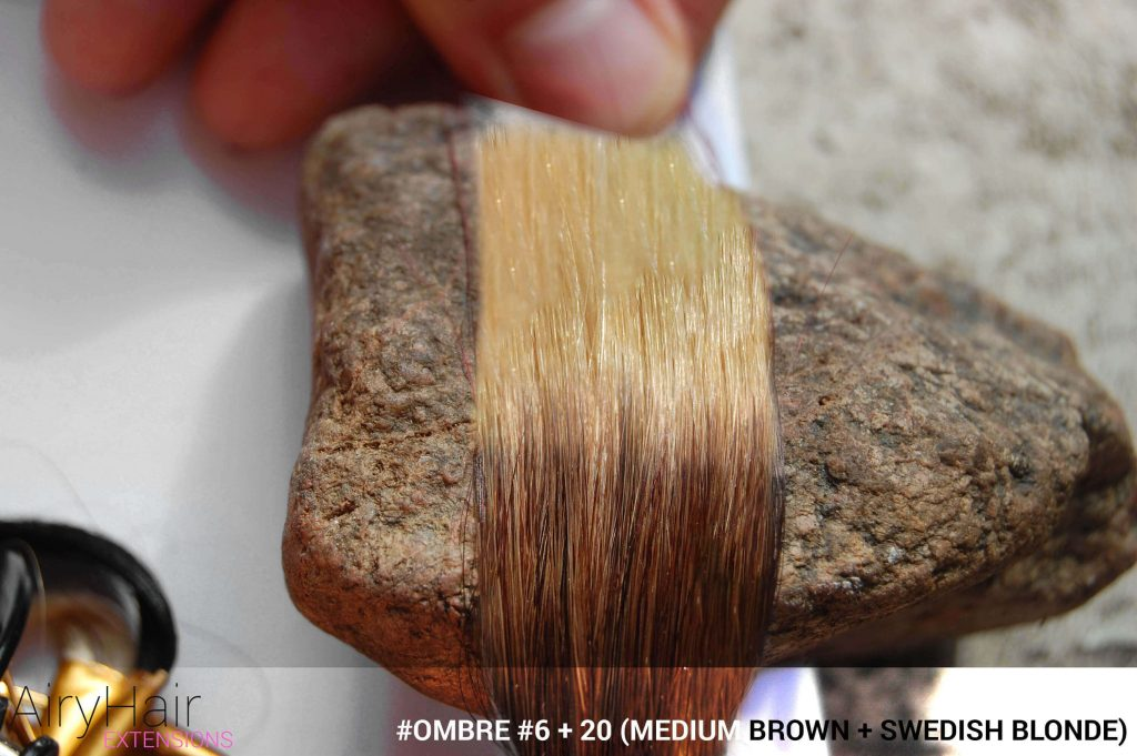 #Ombré #6 / #20 (Medium Brown + Swedish Blonde)