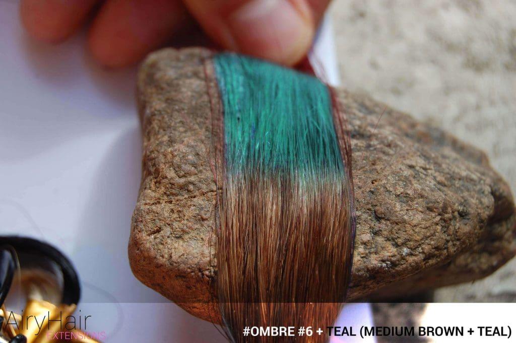 #Ombré #6 / #Teal (Medium Brown + Teal)