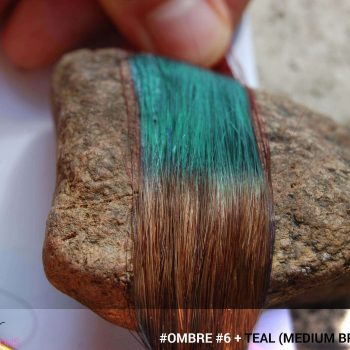 #Ombré #6 / #Teal (Medium Brown + Teal)